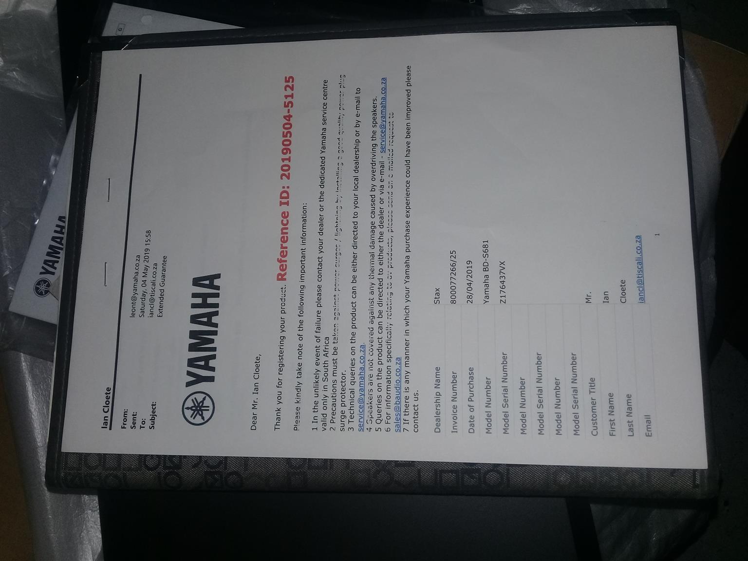 YAMAHA Blu-ray BD-S681 Disc player