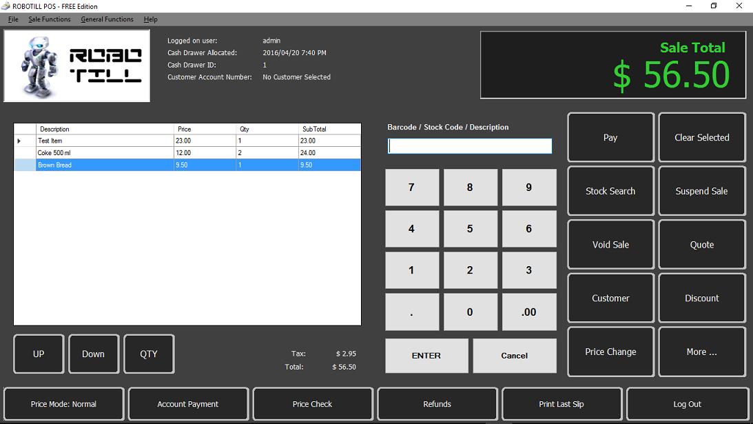 Robotill POS Hardwares and Softwares Inc Training @ Shop