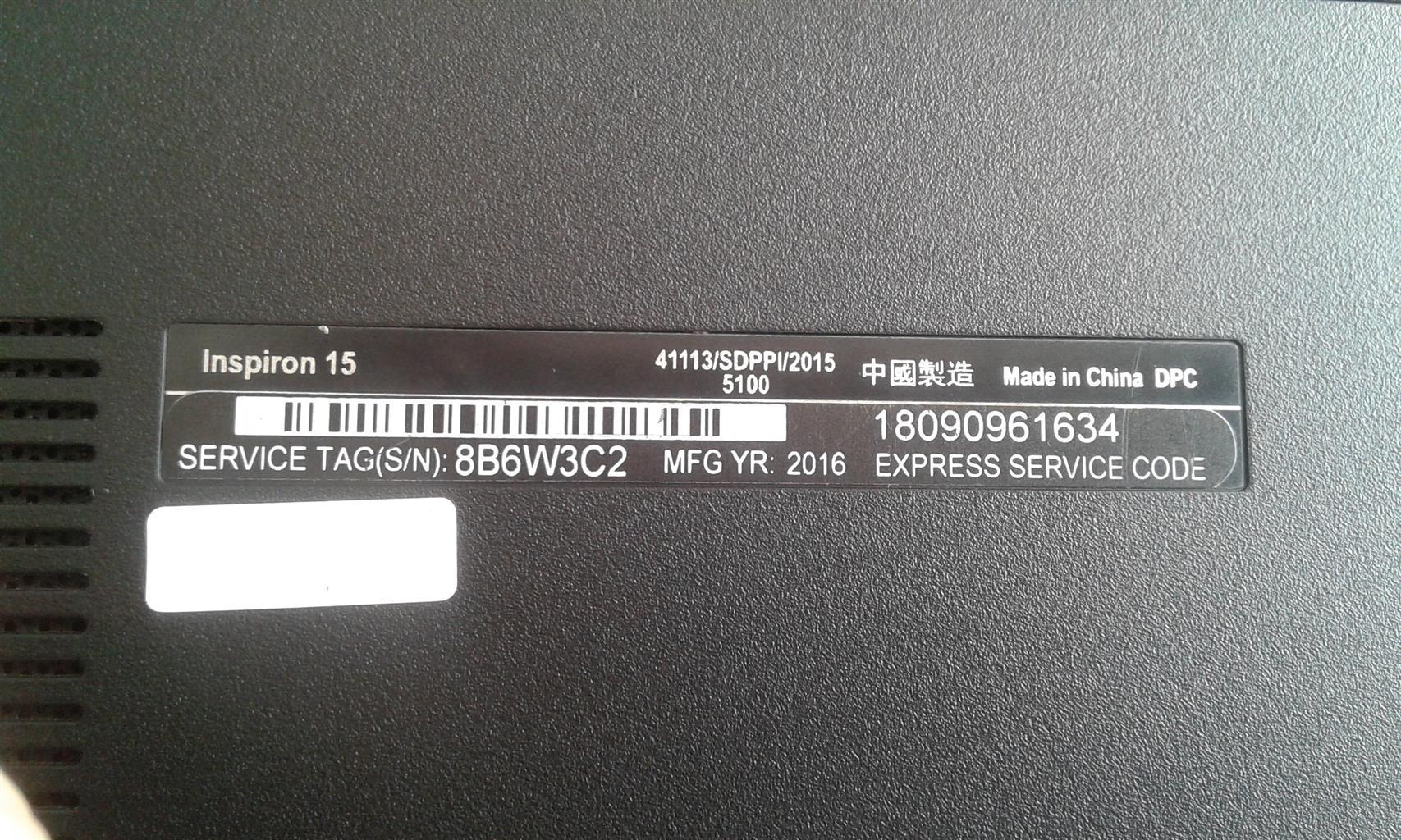 Dell Inspiron 15 5100 2016