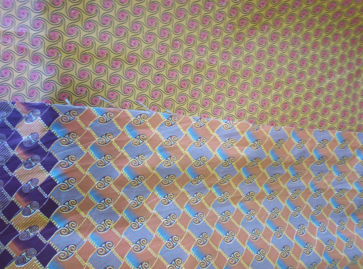 Metallic wax prints
