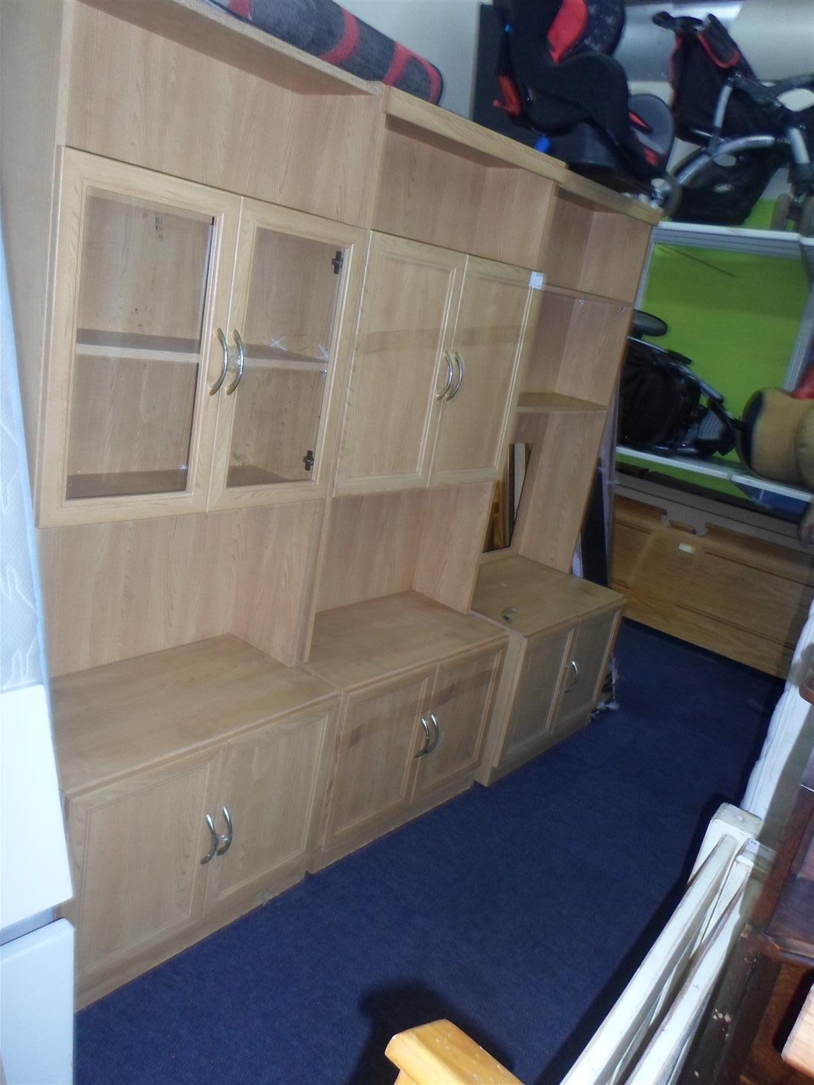 Wooden 3pc.  Wall Unit - B033049724-1