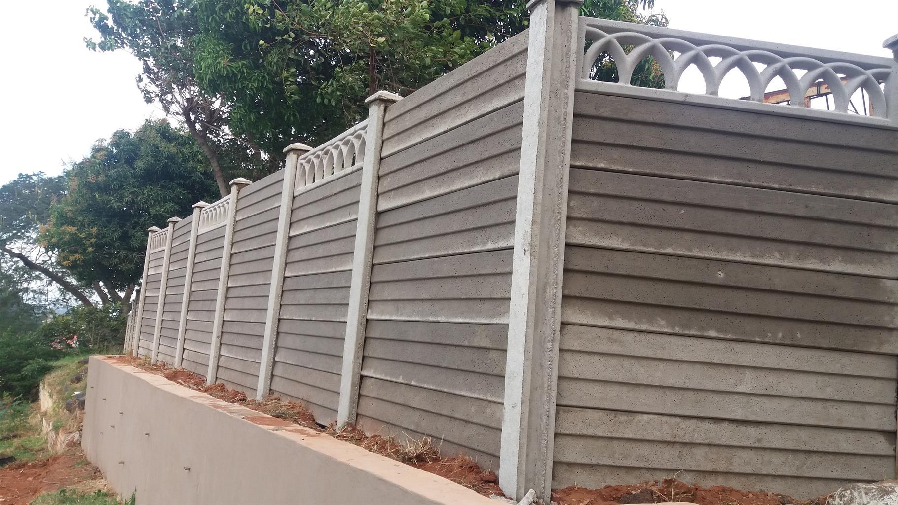 Prefab Vibra Crete Precast Concrete Fencing Walling In