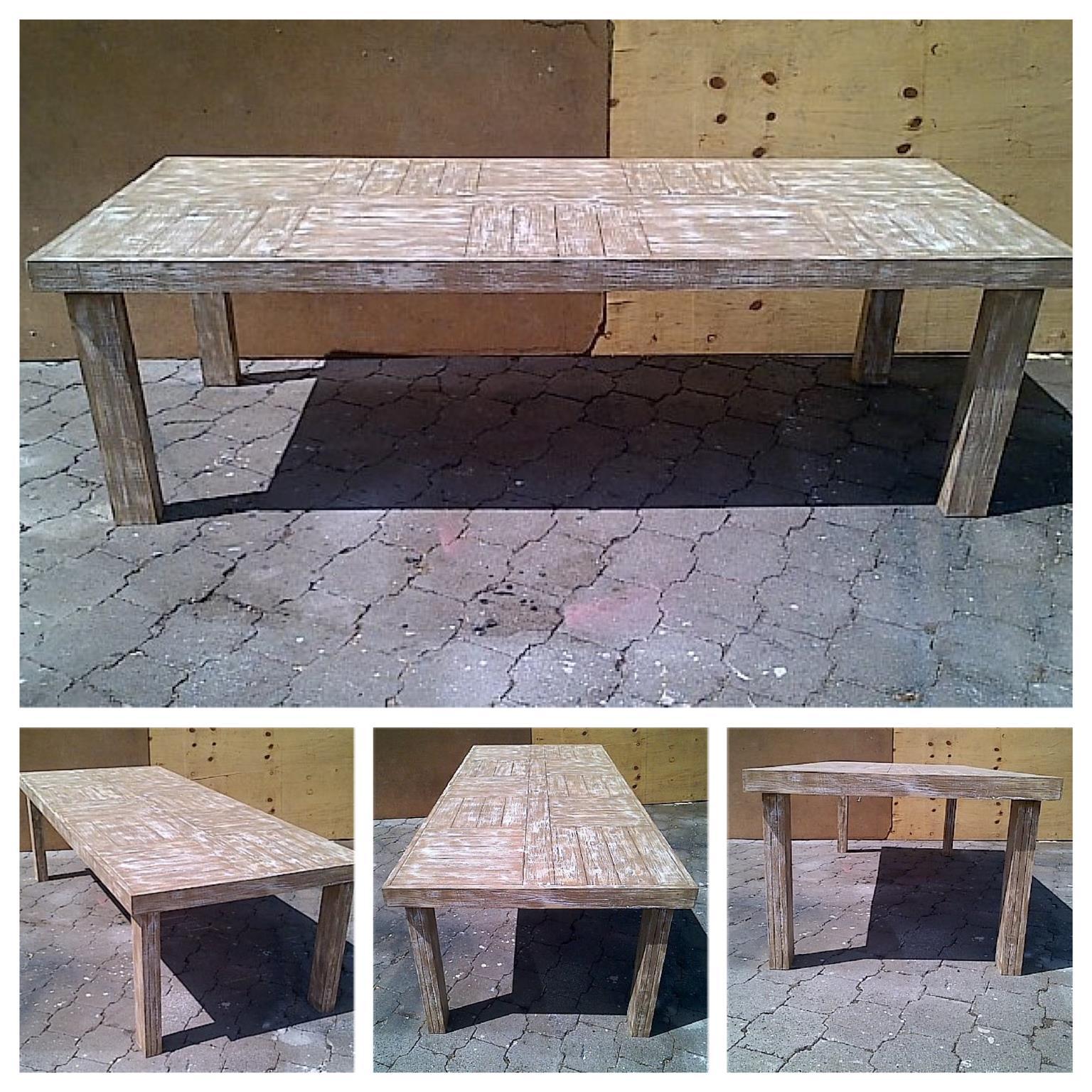 Patio table Farmhouse series 2500 Glazed