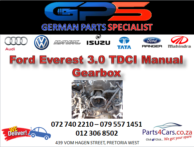Ford Everest 3.0 TDCI Manual Gearbox for Sale