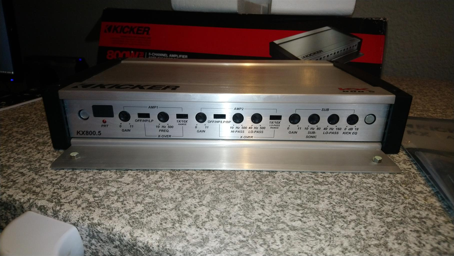 Kicker KX800.5 Amplifier for sale