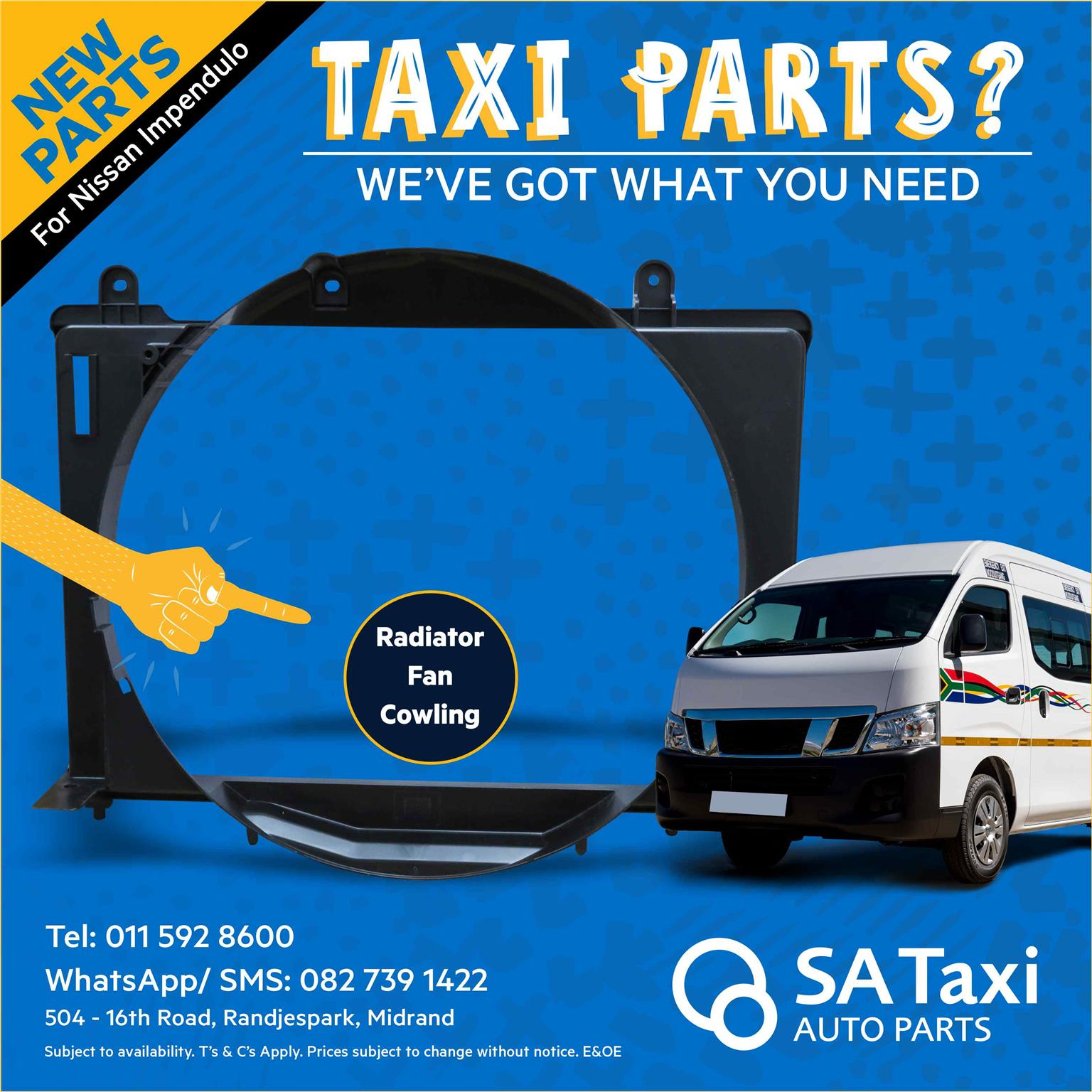 NEW Radiator Fan Cowling for Nissan Impendulo - SA Taxi Auto Parts quality spares