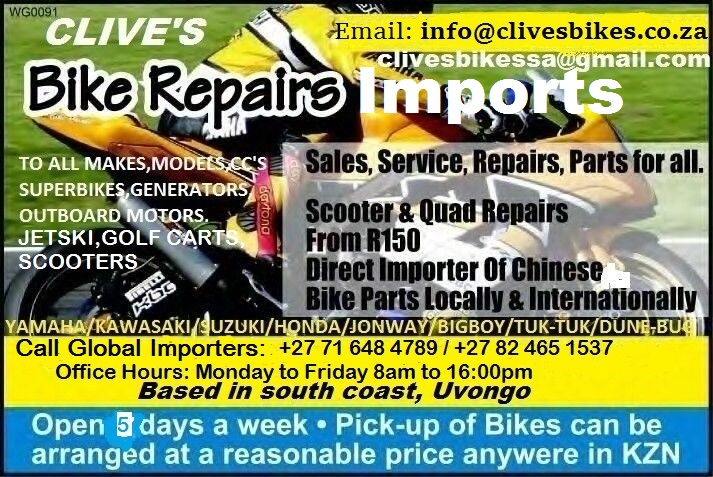 SCOOTERS AND ENGINES OR PARTS IMPORTERS ALL MAKES/CC