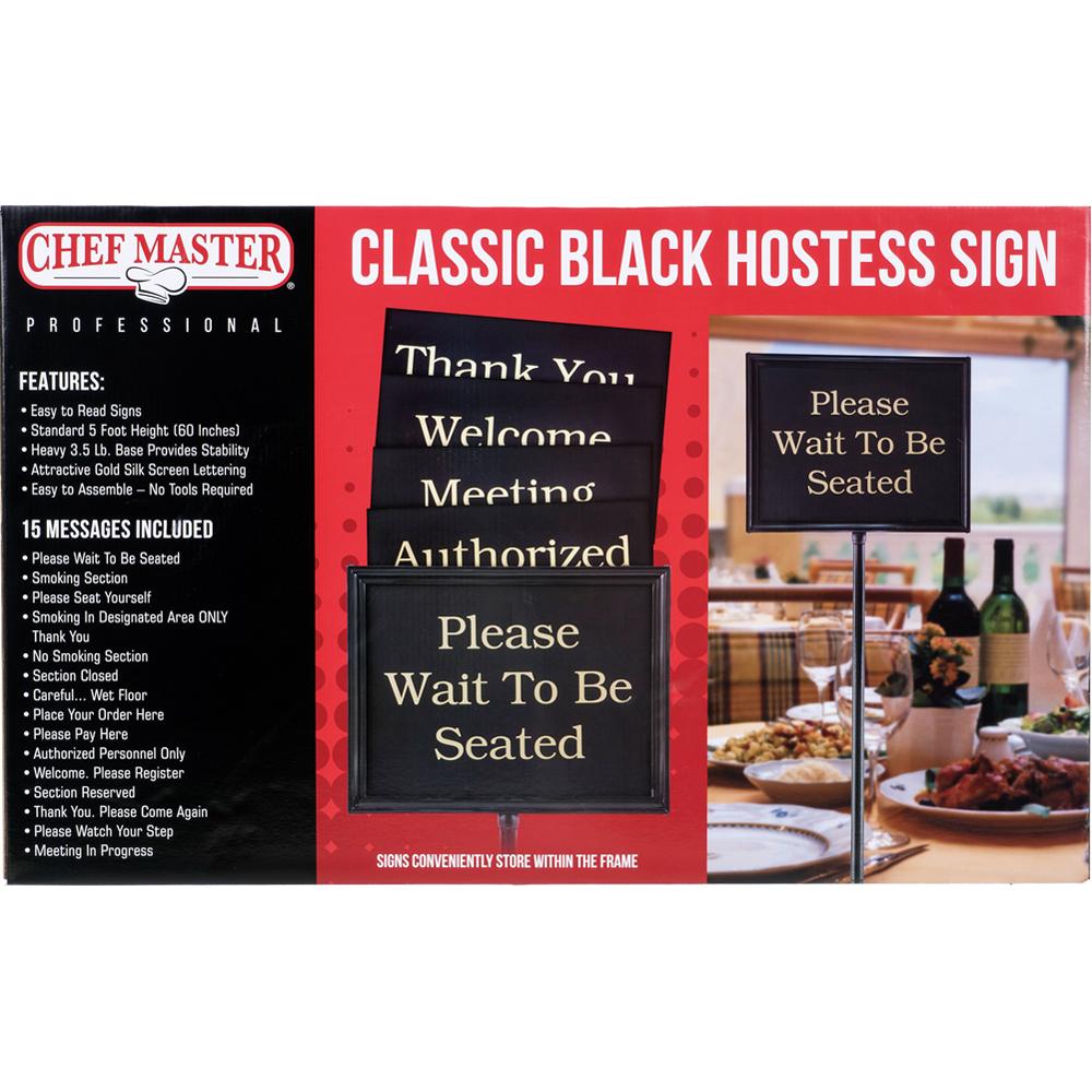 Hostess Signs – Classic Black Finish