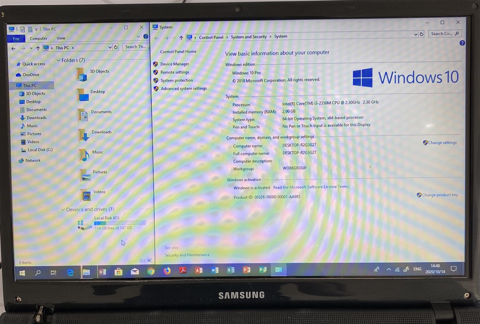 Samsung Intel Core i3 Laptop