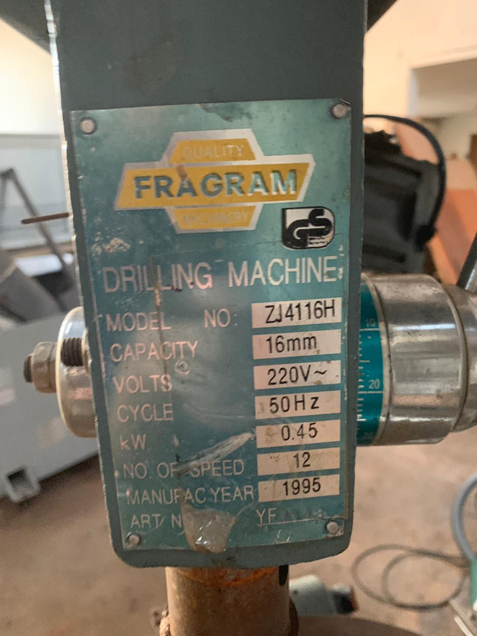 Pedestal Drill, FRAGRAM, 16mm