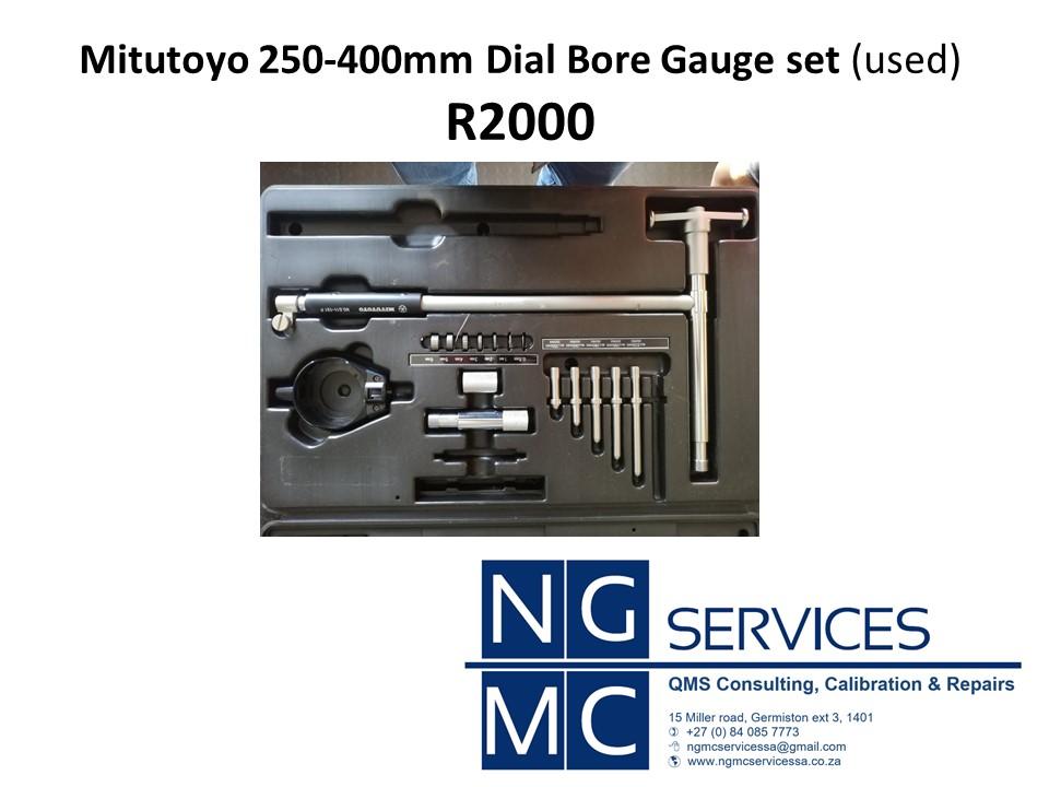 USED: Mitutoyo 250-400mm dial bore gauge set