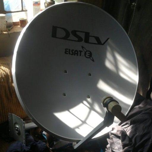 DStv ElSat dish and receiver head.