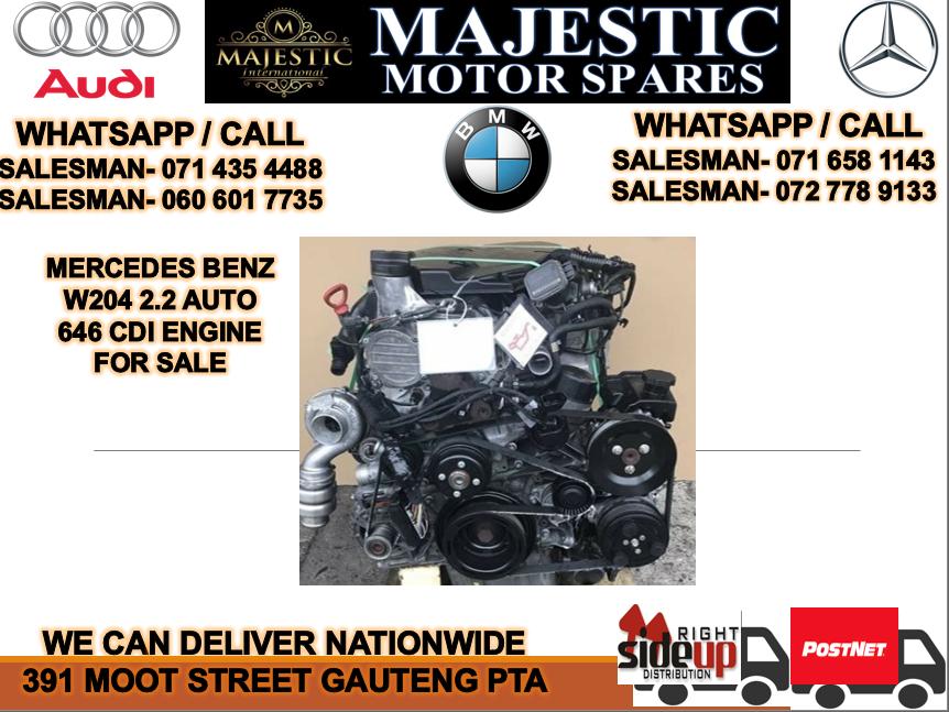 Mercedes benz W204 202 auto 646 CDI engine for sale