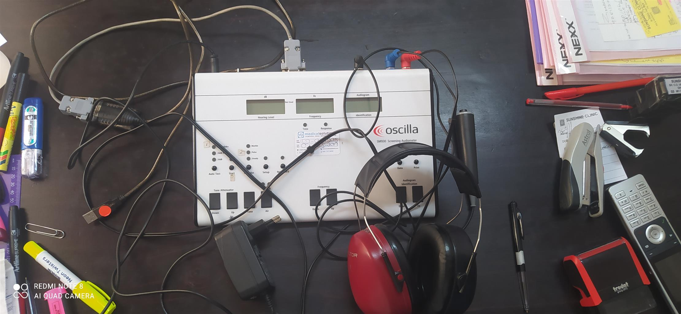 Audio booth and testing equipment