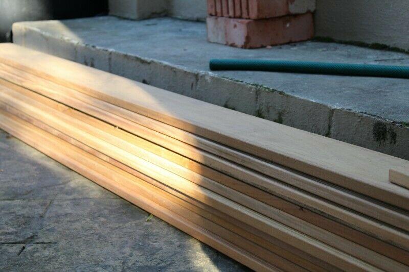 planks, boards, bricks, doors, windows, piping