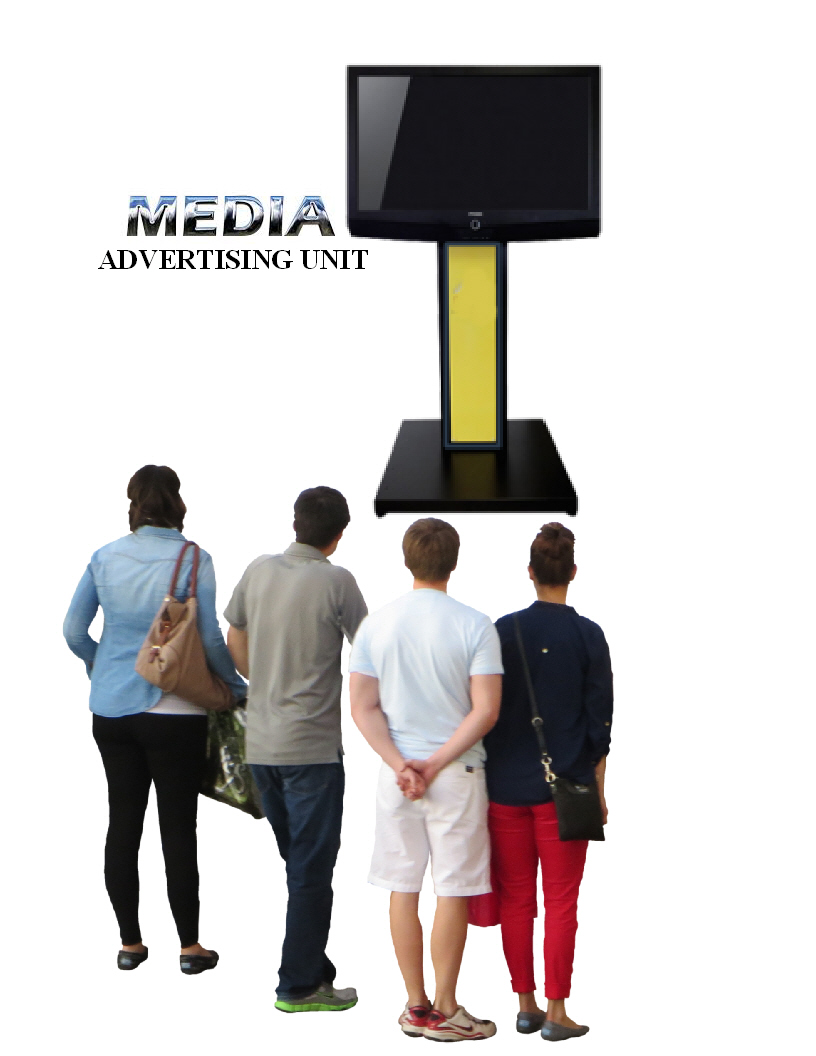 Media marketing advertising digital screen stand unit for sale