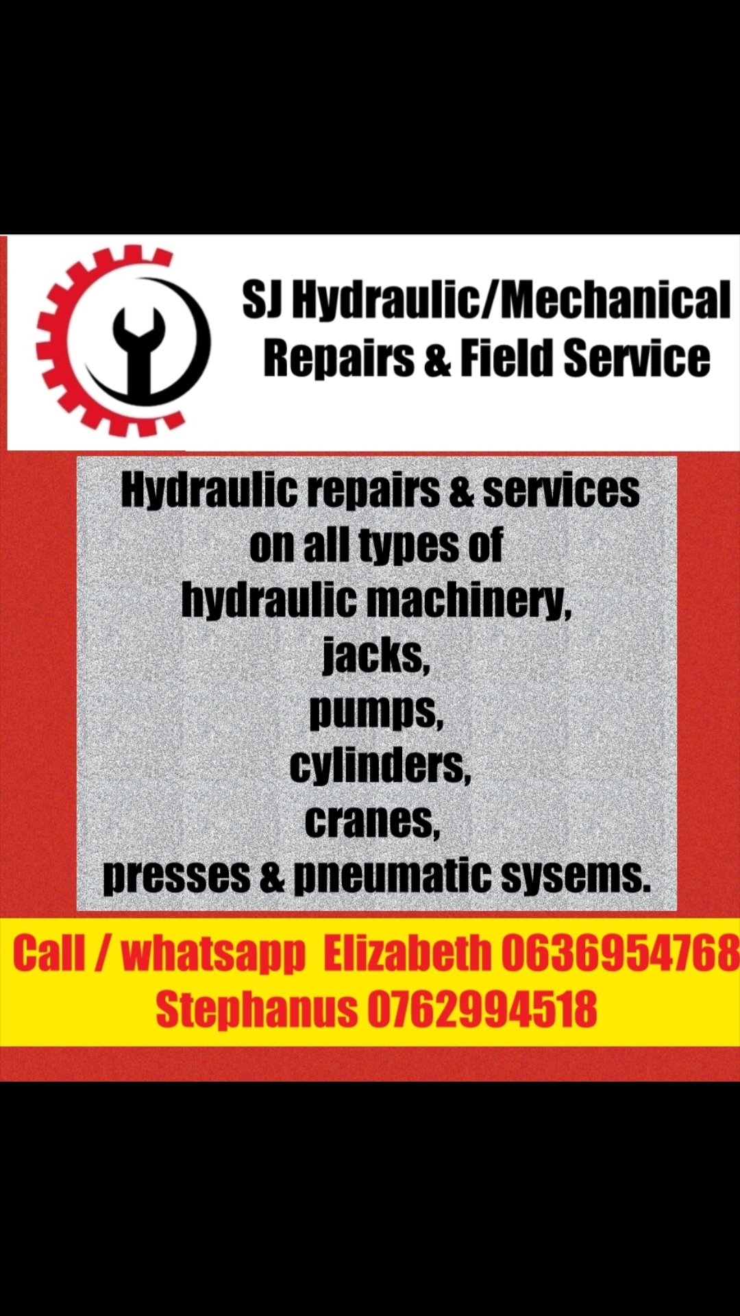 HYDRAULIC REPAIRS AND FIELD SERVICE