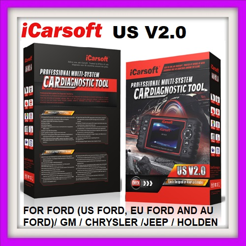 AUTO DIAGNOSTIC ICARSOFT US V2.0 FOR FORD (US FORD, EU FORD AND AU FORD)/ GM / CHRYSLER /JEEP