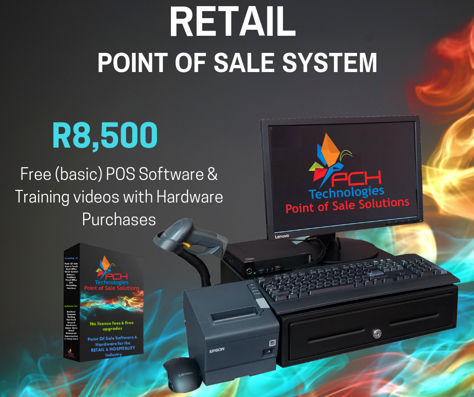 Retail Point of Sale System Complete (Refurb) R8500 Incl VAT