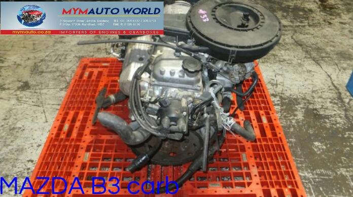 Imported used  MAZDA FAMILIA/323/DEMIO 1.3L SOHC, B3 CARB Used engine.