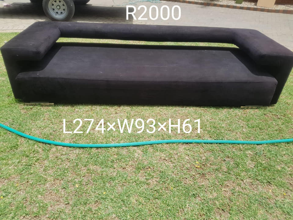 Long black couch for sale