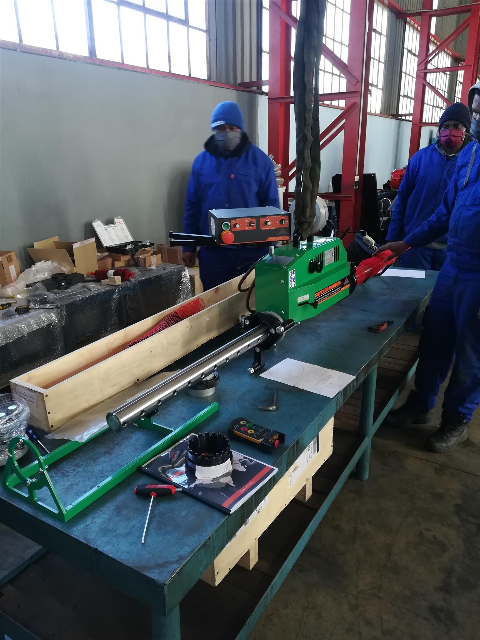Portable line boring and rotary welding machine for sale