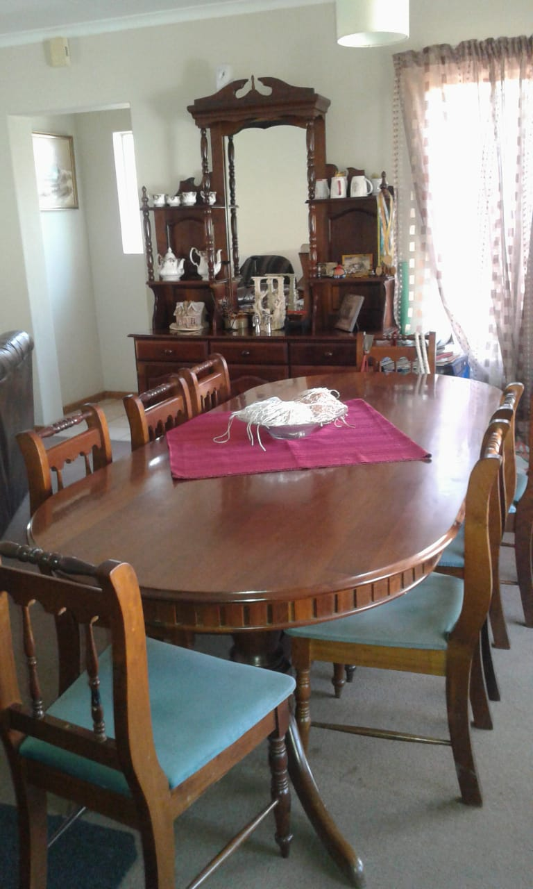 Solid imbuia wood  dining suite for sale
