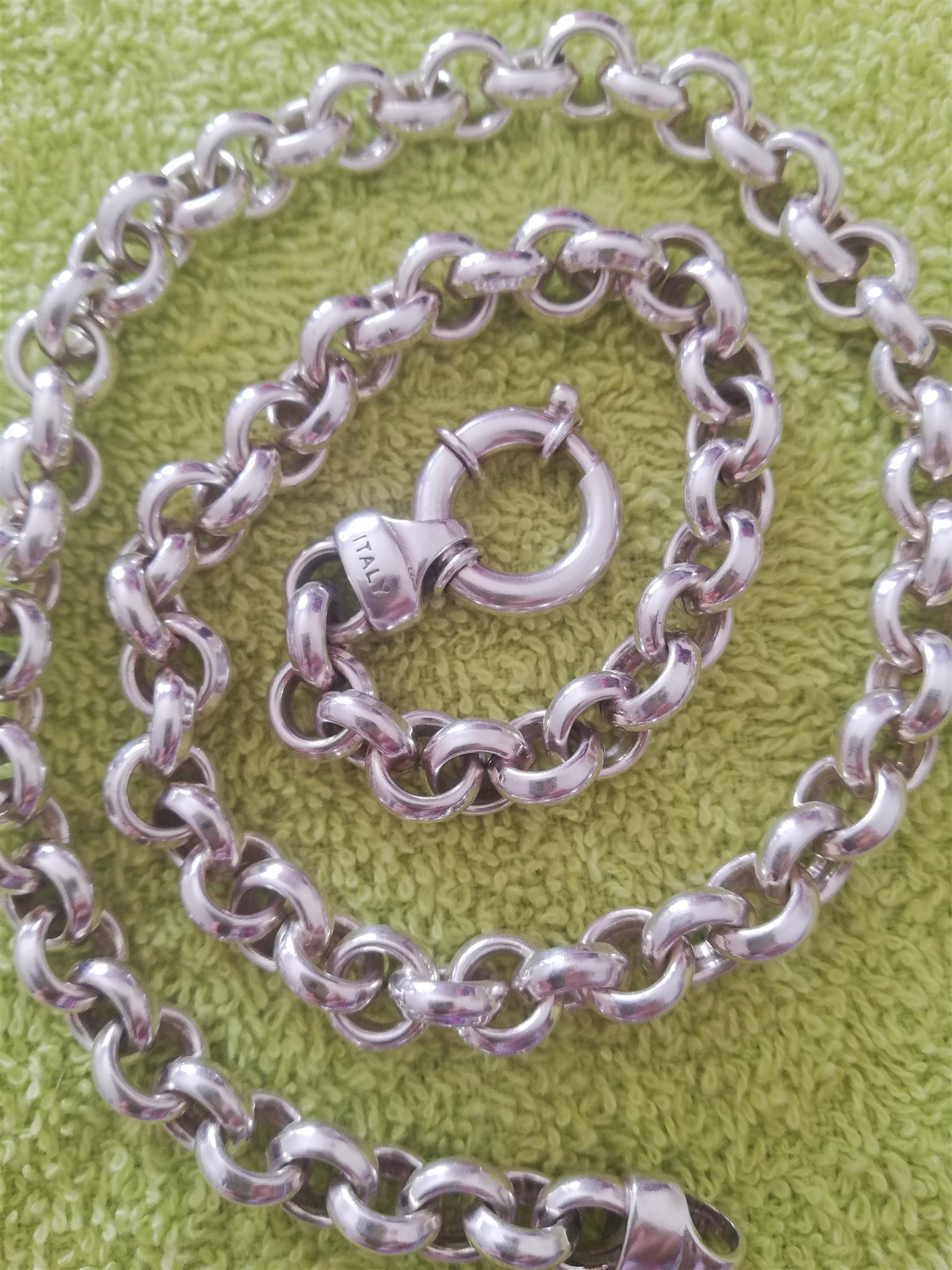 Ladies Silver Belcher Italy Chain For sale