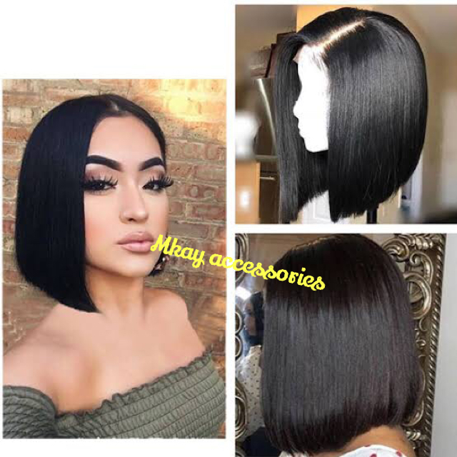 Front lace wig natural hairline and Brazilian eyelash eyelashes