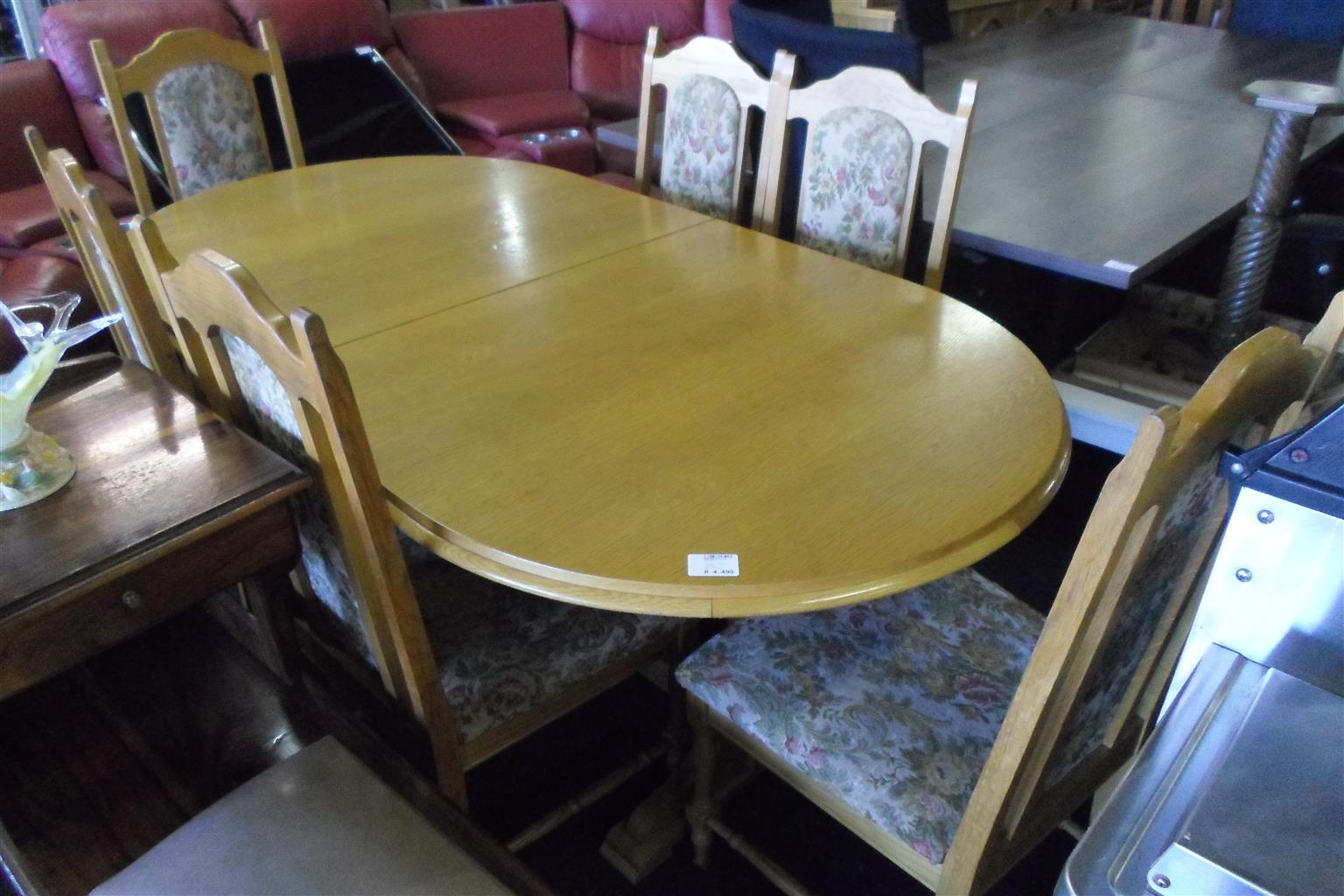 Wooden 6 Seater Dining Room Table - B033044311-4