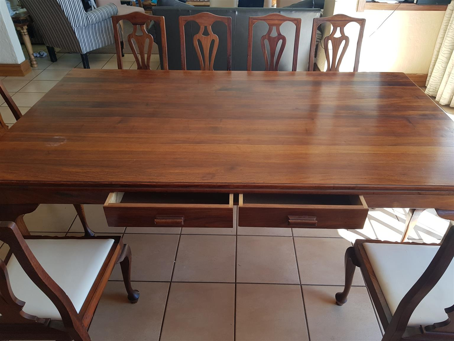 kiaat dining room table with 10 chairs junk mail rh junkmail co za Black Brown Dining Room Table with Chairs Dining Room Table for 10