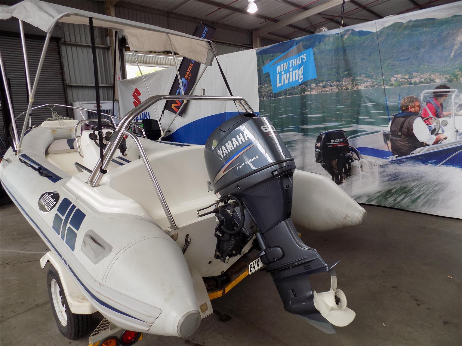 falcon 4,75 on trailer 60 hp yamaha 4 stroke 55 hours