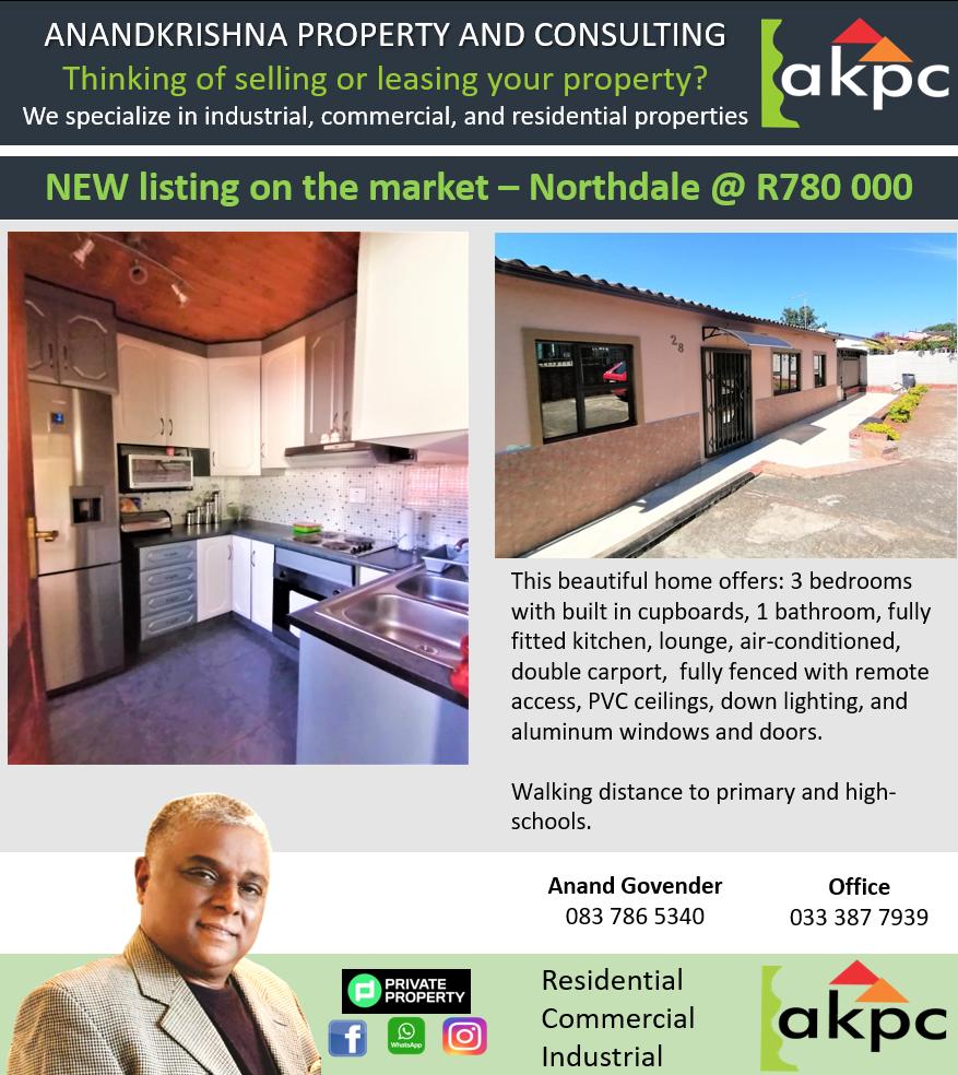 FOR SALE – Northdale, Pietermaritzburg