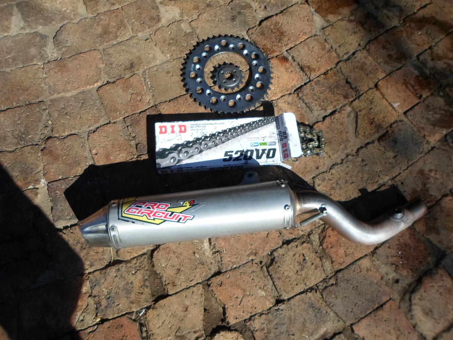 Honda XR 650 Pro Ciruit Exhaust & Spares.