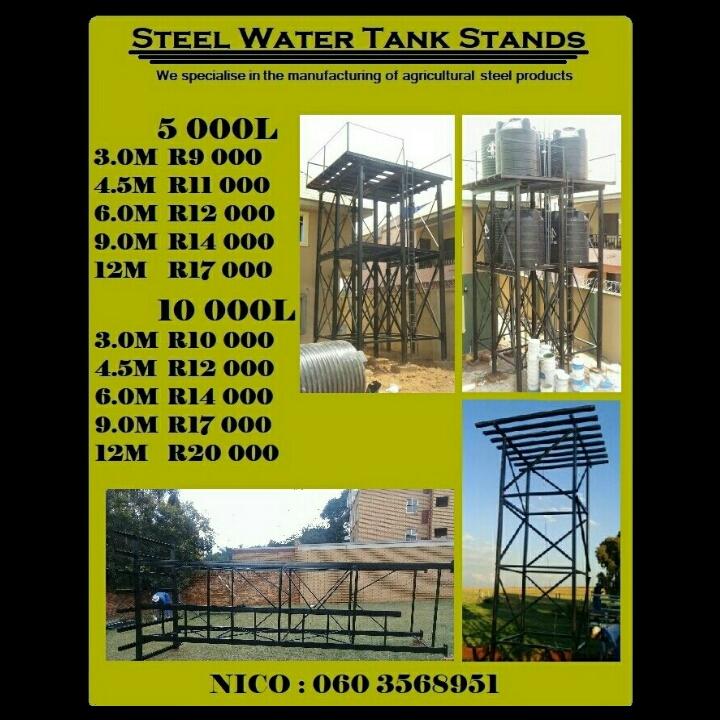 Steel tank stands