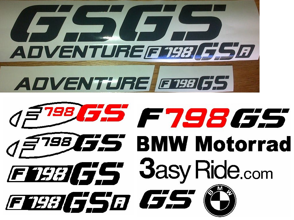 Graphics decals sticker sets for all F798 GS / Adventure bikes