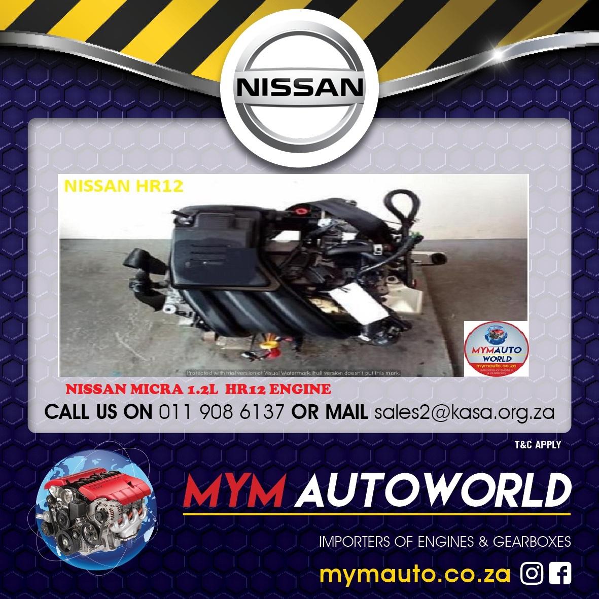 NISSAN MICRA 1.2L HR12 ENGINE