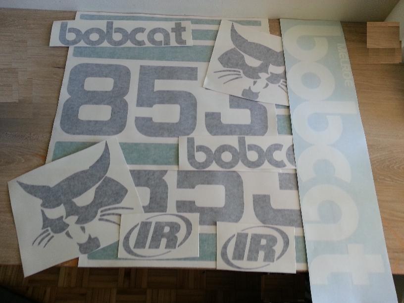 Bobcat 853 decals stickers vinyl cut graphics kit
