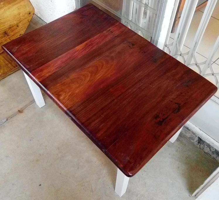 Refurbished Old Coffee Table With Teak Top