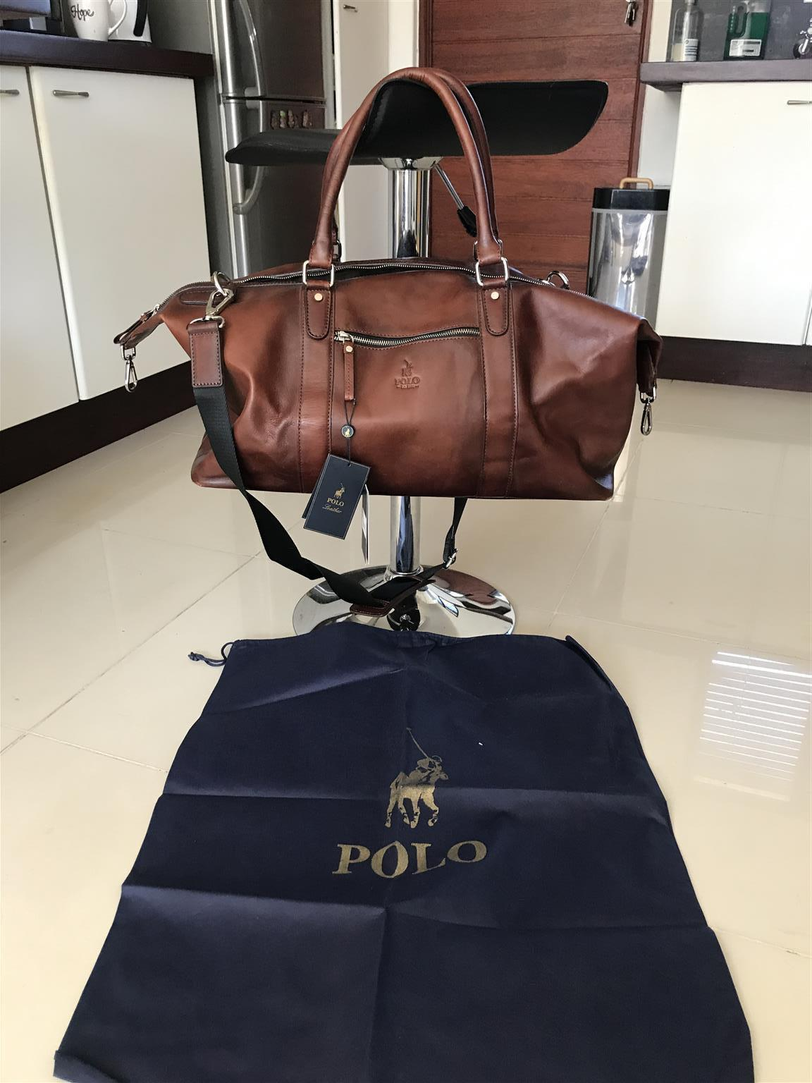 Polo Leather Duffel Bag