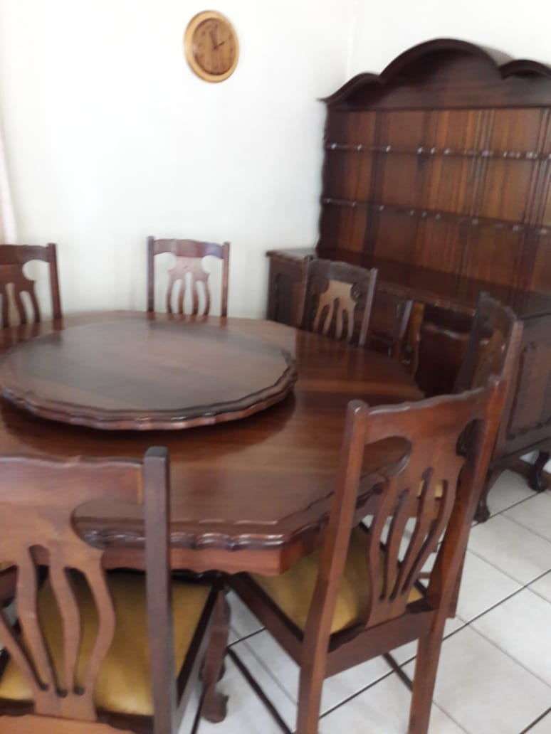 Embuia Ball and Claw dinning room suite