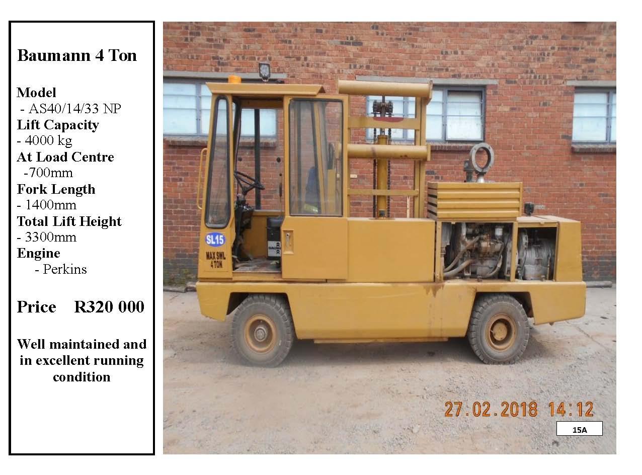 Baumann Side Loader Forklift