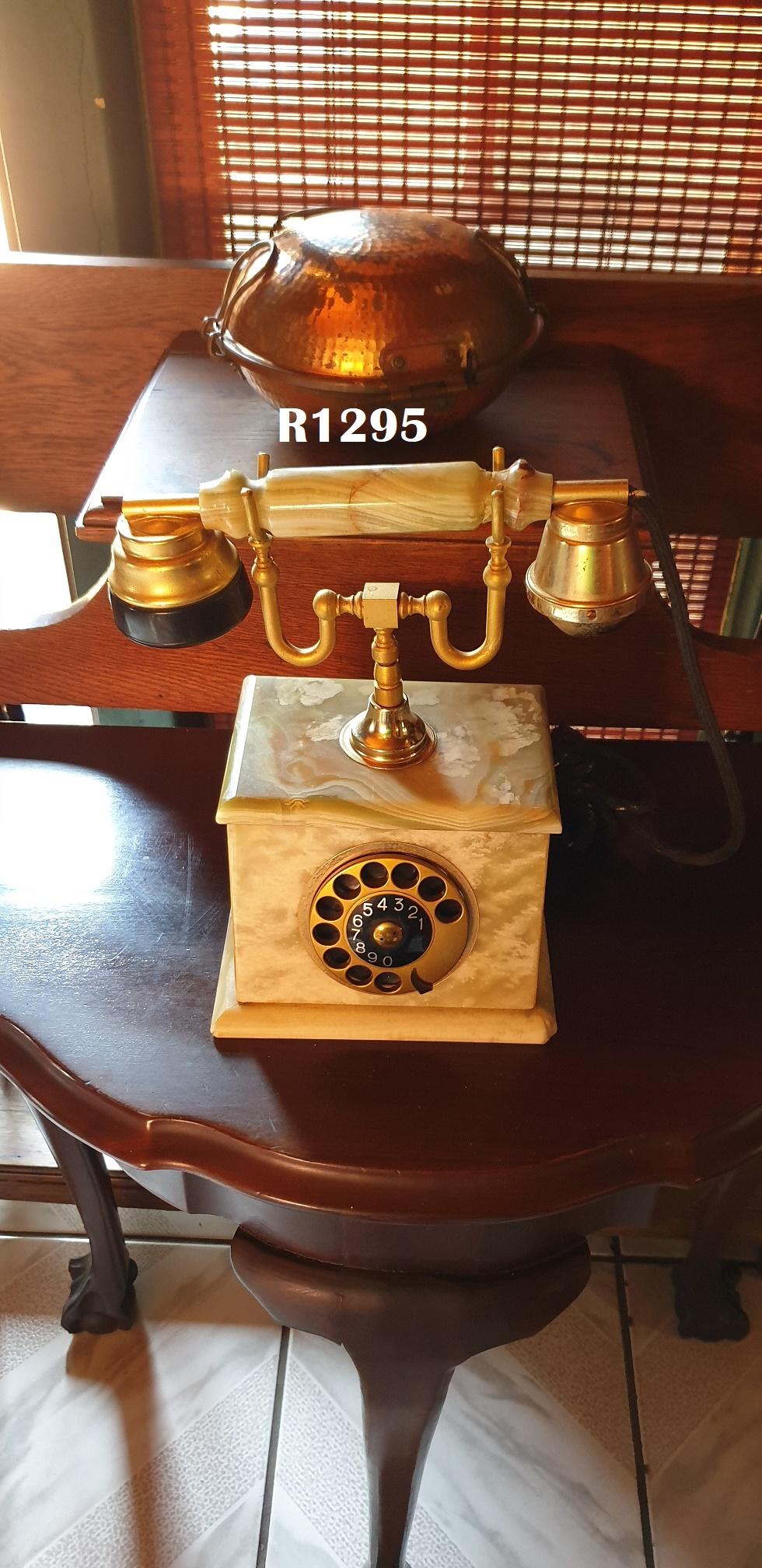Antique Onyx Telephone