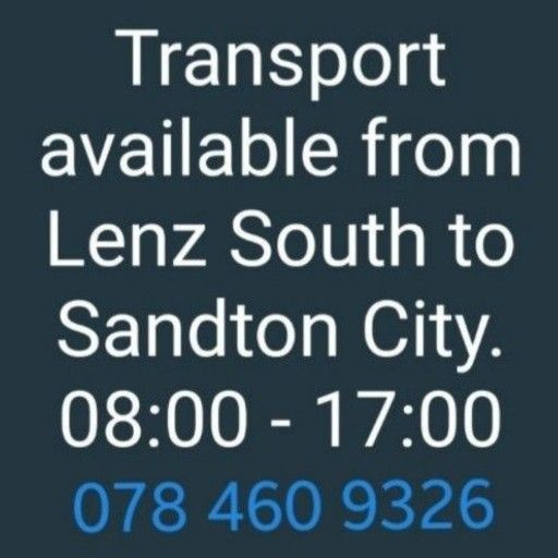 Transport Available from Lenasia South to Sandton City. 8 to 5