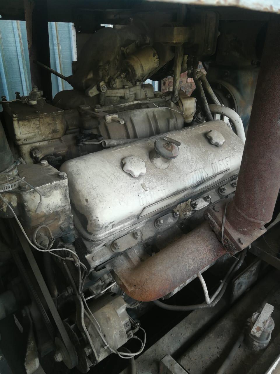 Compressor powered by V8 Diesel Engine