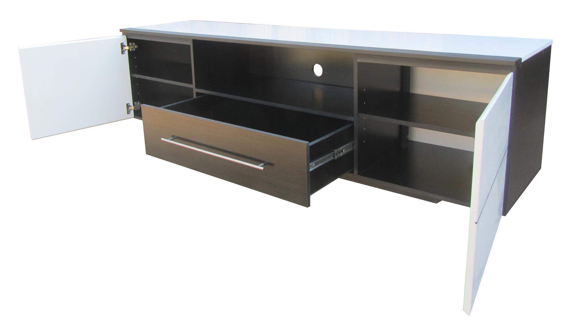 New modern Tv stand black & white high gloss finish 2 100 W x 600 D x 500 H. R 3 500