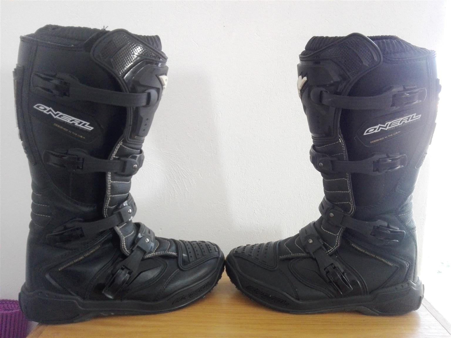 ONEAL ELEMENT III CROSS BOOTS (AS NEW) FOR SALE