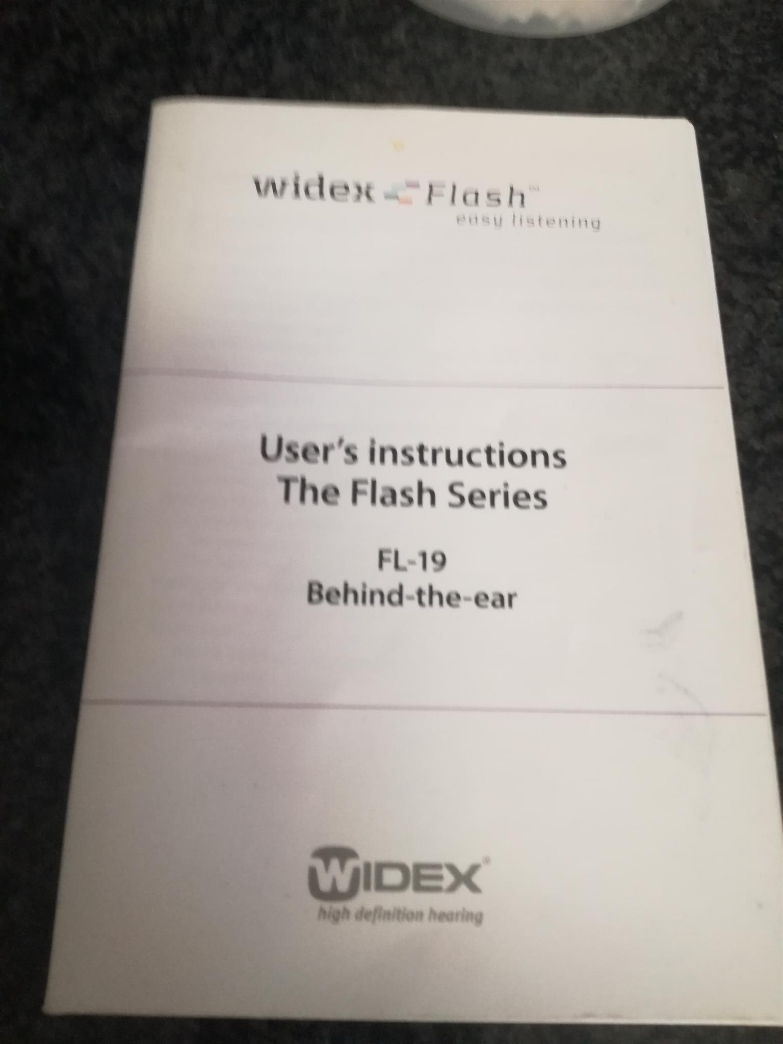 HEARING AID Widex Flash FL-19. Top brand product.