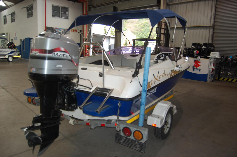 exodus 170 on trailer 125 hp mariner