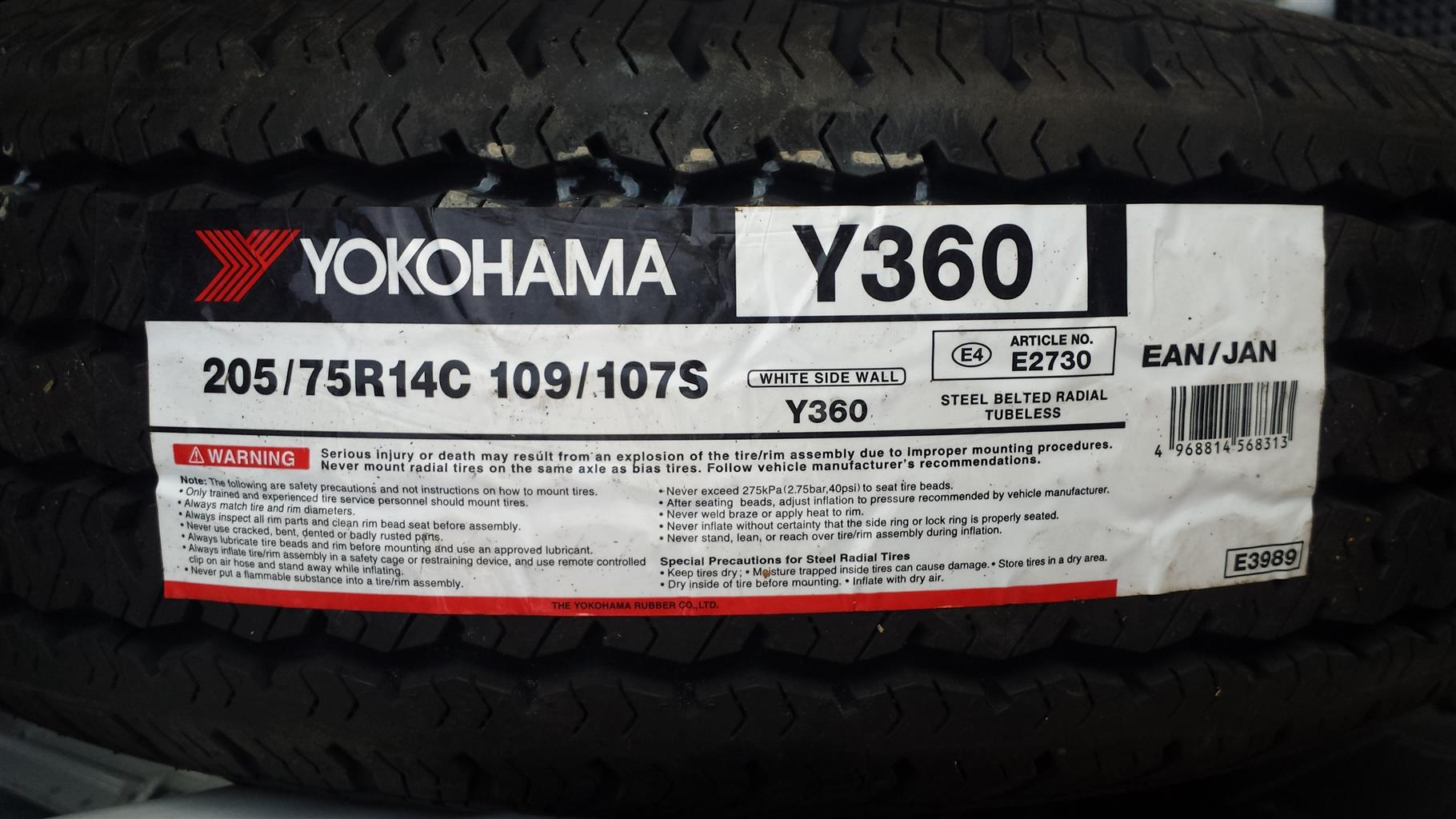 Yokohama Whitewall tyres